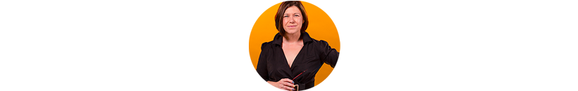 Jen headshot V2 Circular orange background 4D1A2602 TEST